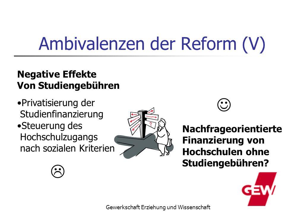 Ambivalenzen der Reform (V)