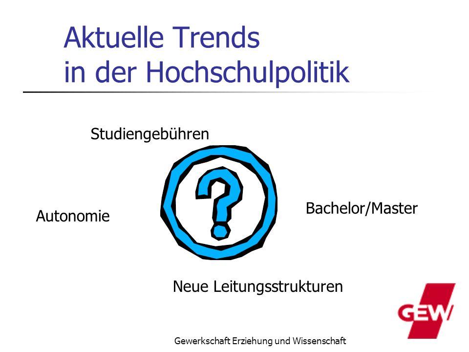 Aktuelle Trends in der Hochschulpolitik