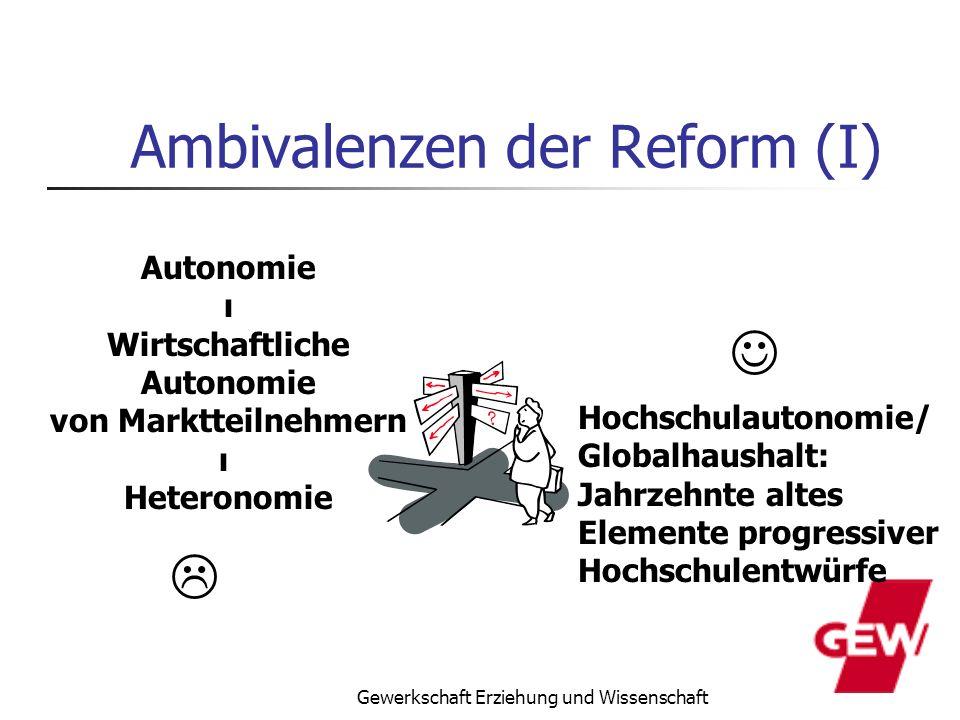 Ambivalenzen der Reform (I)