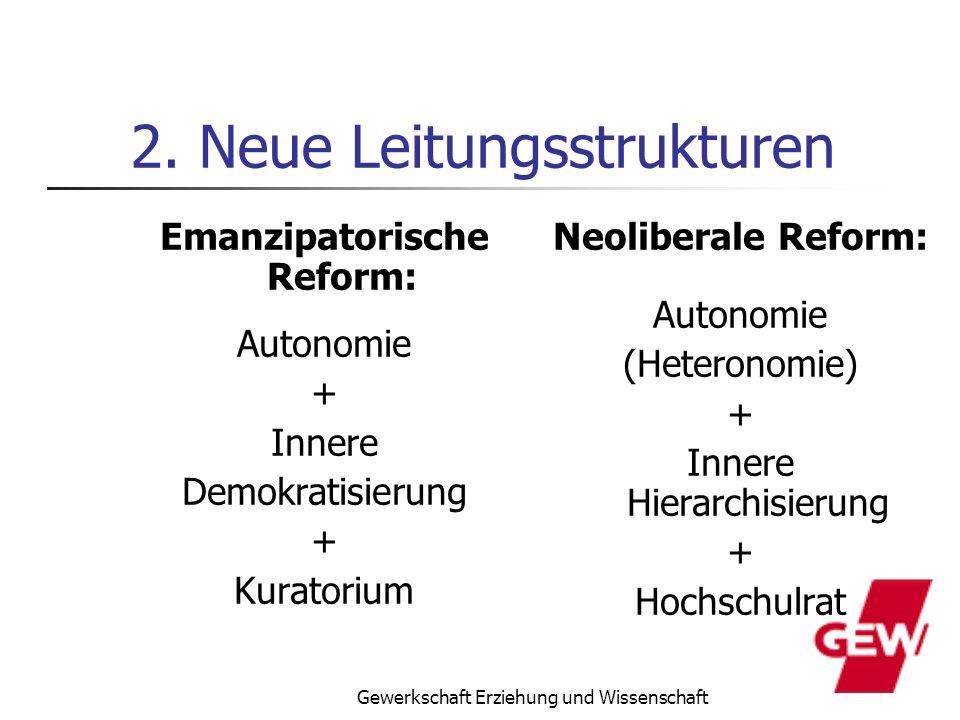 2. Neue Leitungsstrukturen