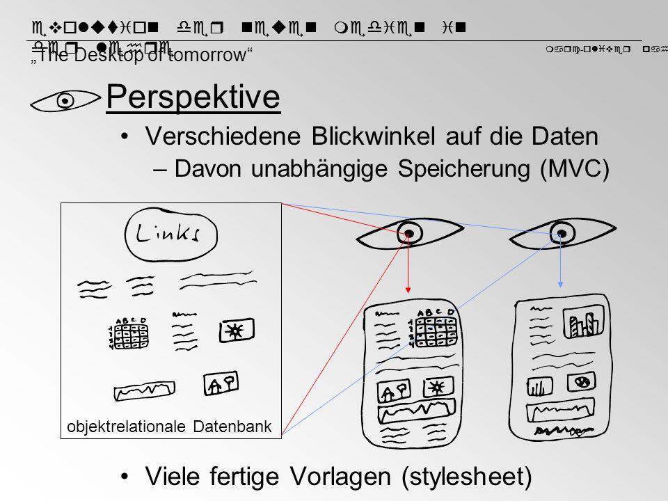 Perspektive Verschiedene Blickwinkel auf die Daten