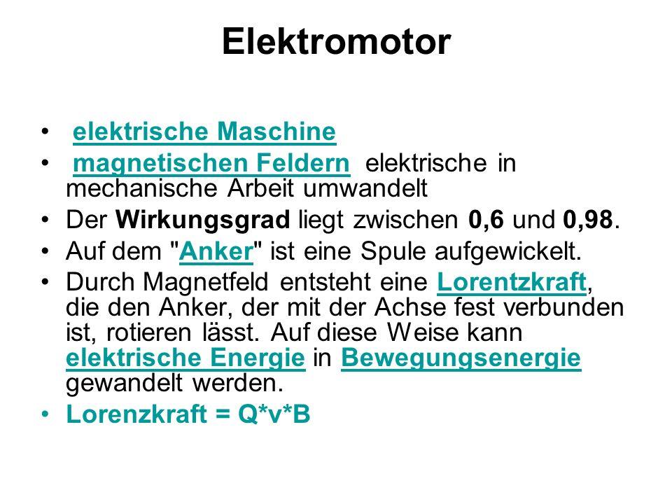 Elektromotor elektrische Maschine