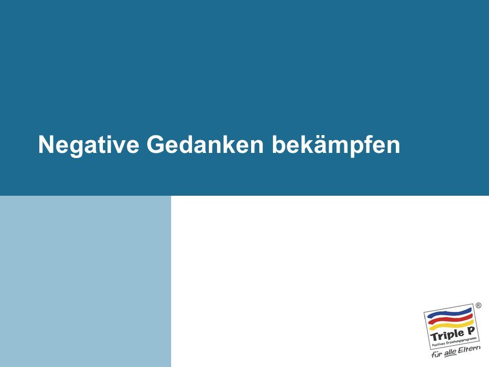 Negative Gedanken bekämpfen