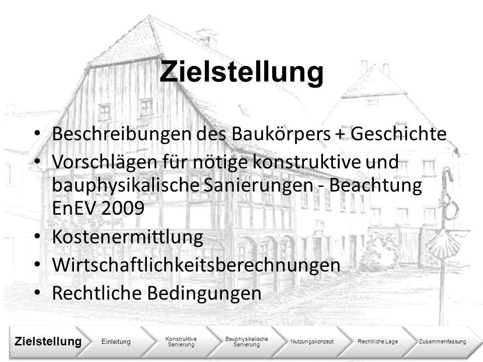 Zielstellung Beschreibungen des Baukörpers + Geschichte