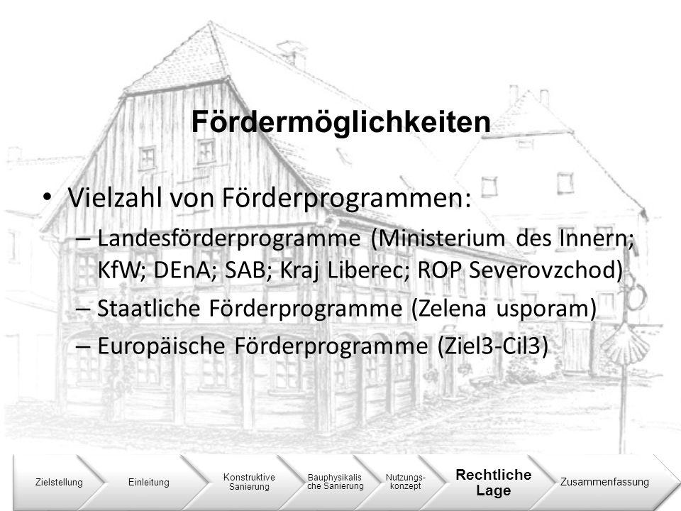 Vielzahl von Förderprogrammen: