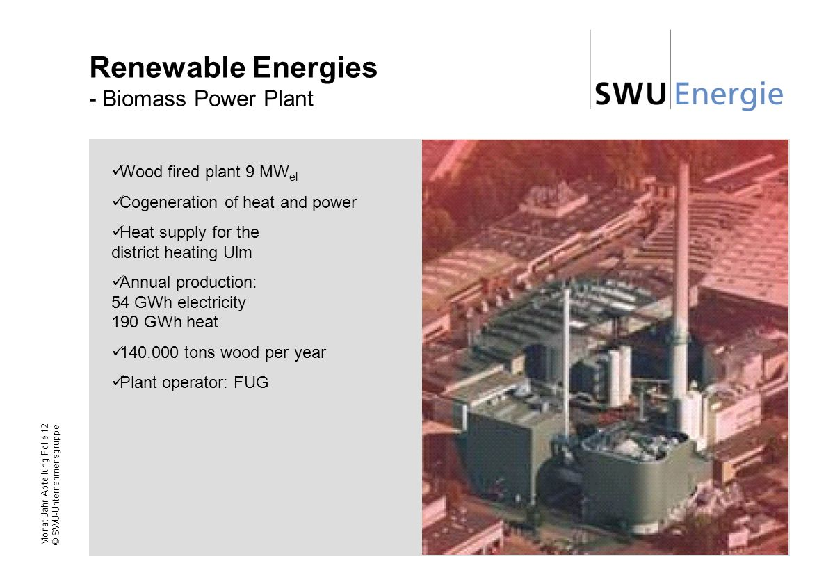 Renewable Energies - Biomass Power Plant