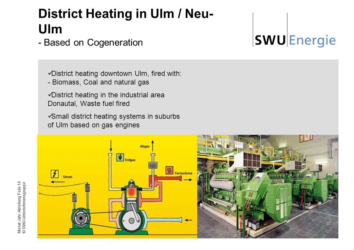 District Heating in Ulm / Neu-Ulm - Based on Cogeneration