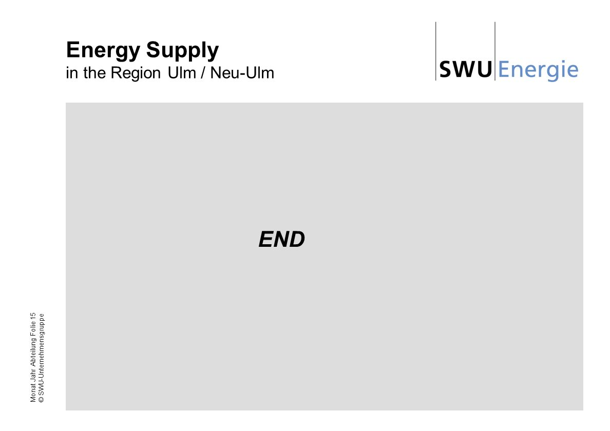 Energy Supply in the Region Ulm / Neu-Ulm