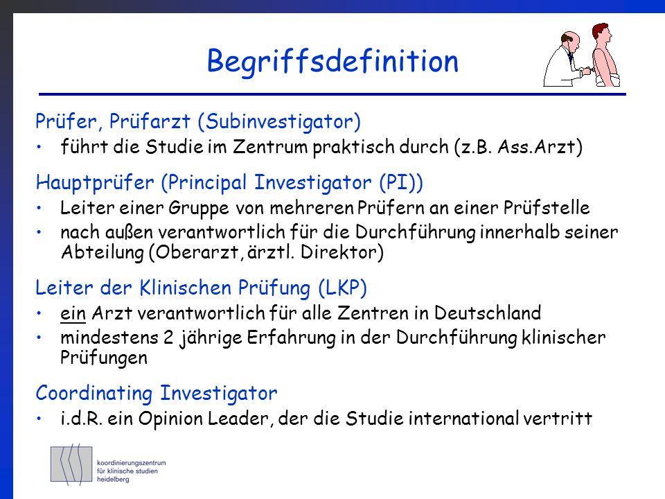 Begriffsdefinition Prüfer, Prüfarzt (Subinvestigator)