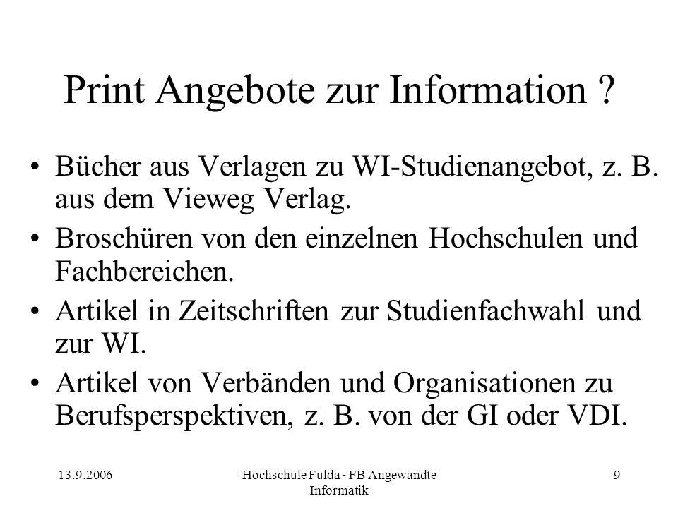Print Angebote zur Information