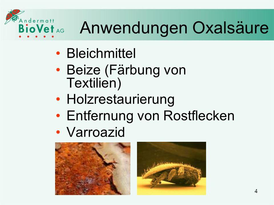 Anwendungen Oxalsäure