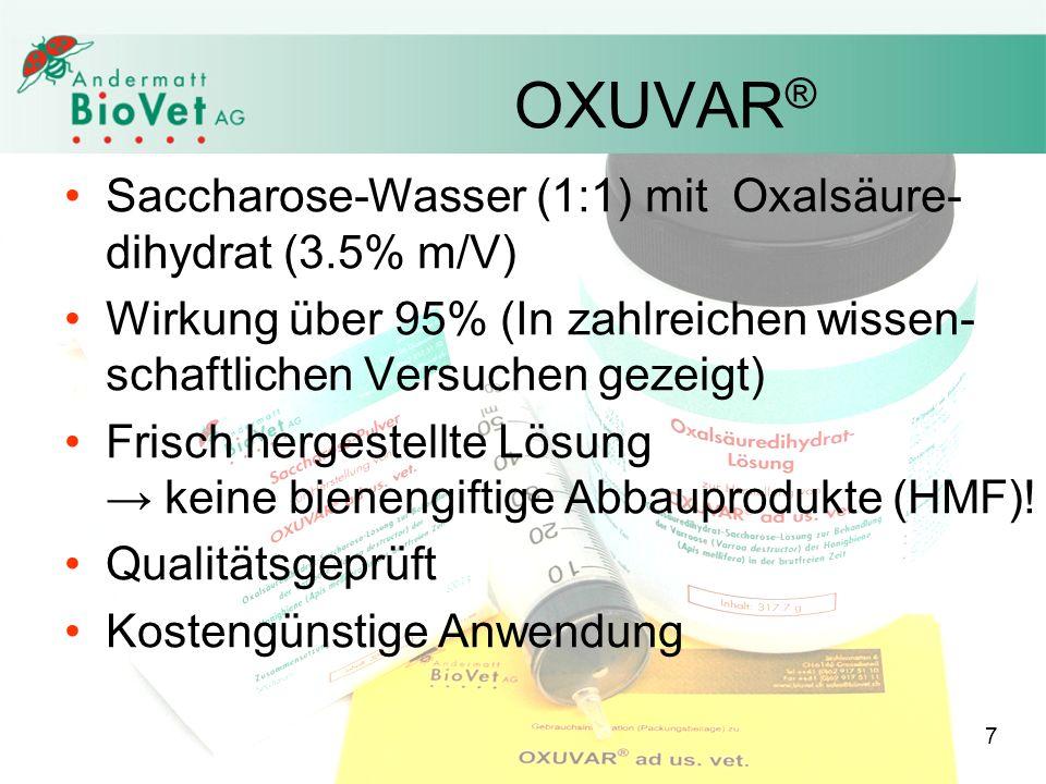 OXUVAR® Saccharose-Wasser (1:1) mit Oxalsäure-dihydrat (3.5% m/V)