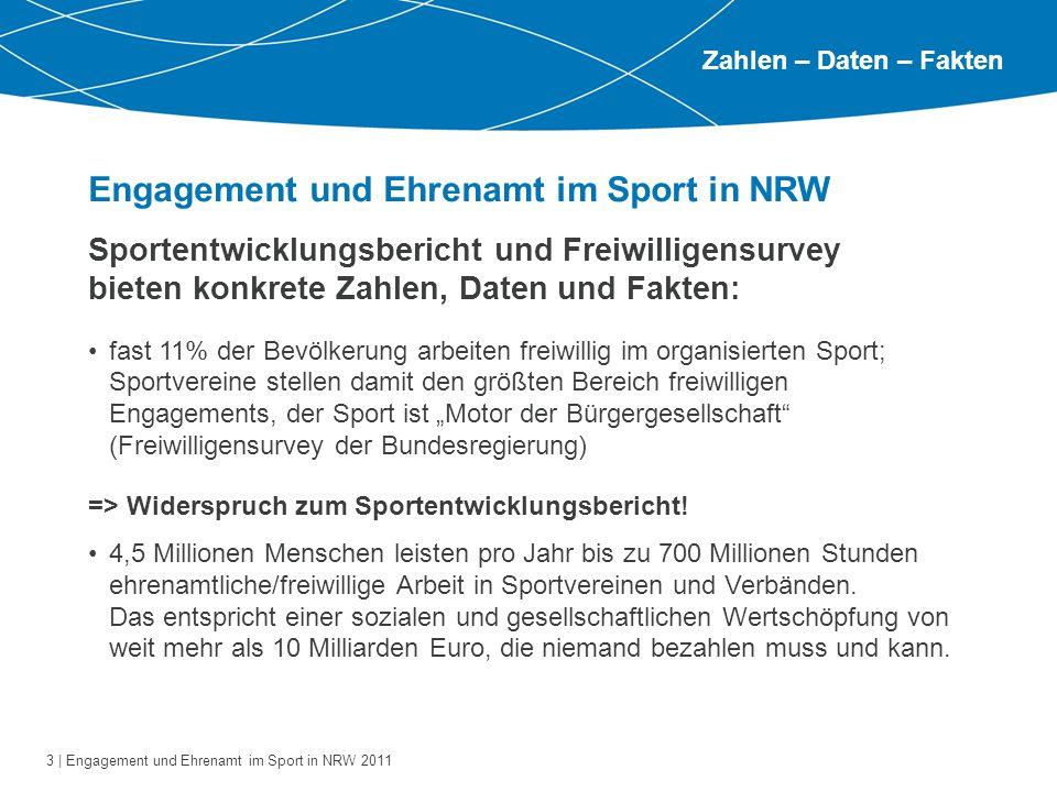 Engagement und Ehrenamt im Sport in NRW