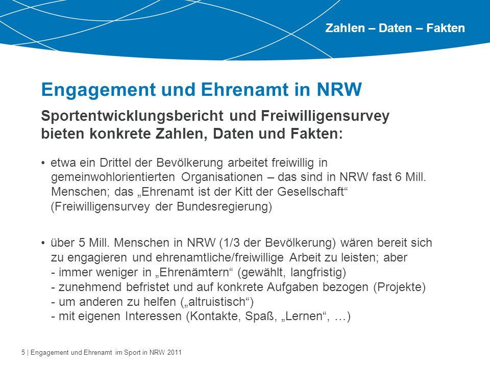 Engagement und Ehrenamt in NRW