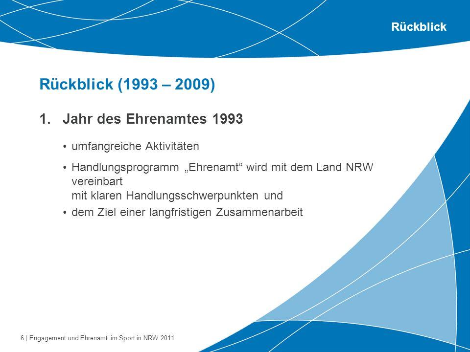 Rückblick (1993 – 2009) Jahr des Ehrenamtes 1993 Rückblick