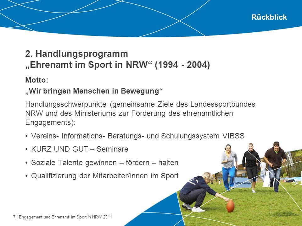 """2. Handlungsprogramm """"Ehrenamt im Sport in NRW (1994 - 2004)"""
