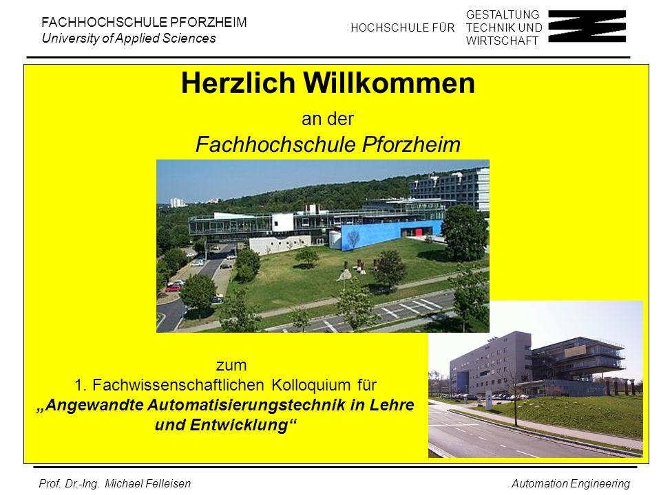 Herzlich Willkommen an der Fachhochschule Pforzheim