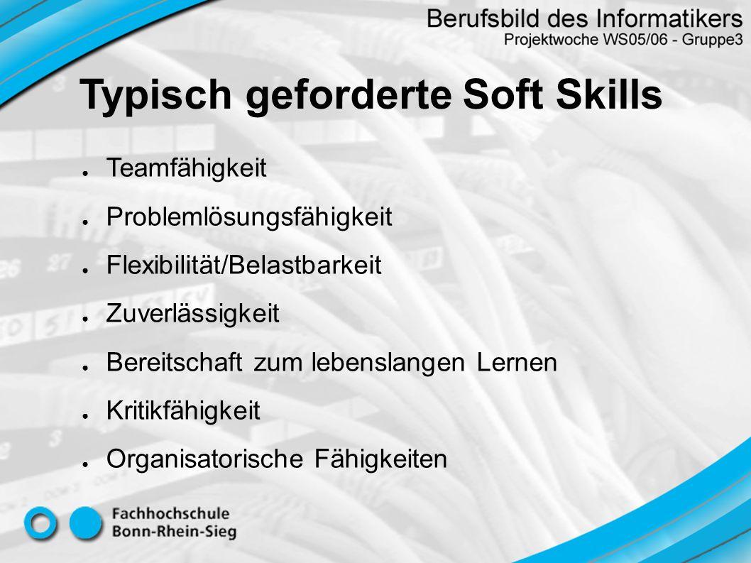Typisch geforderte Soft Skills
