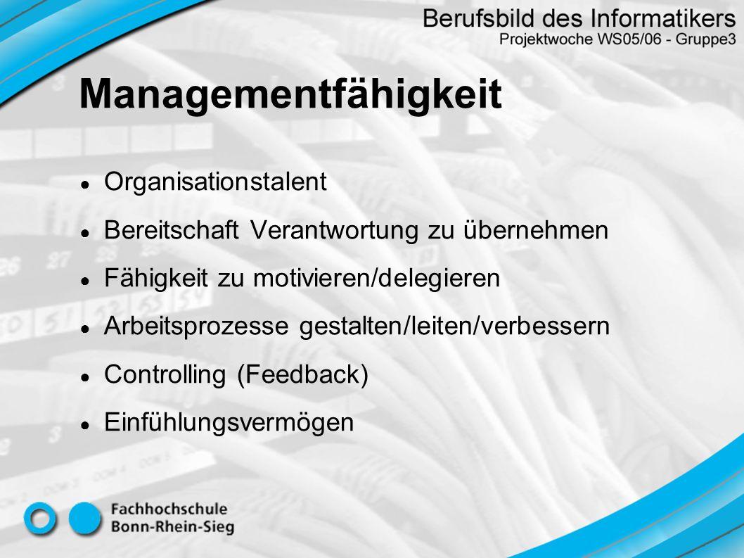 Managementfähigkeit Organisationstalent