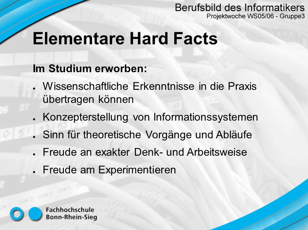 Elementare Hard Facts Im Studium erworben: