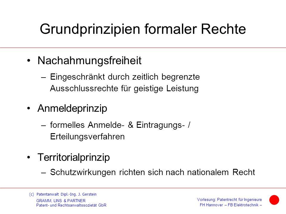 Grundprinzipien formaler Rechte