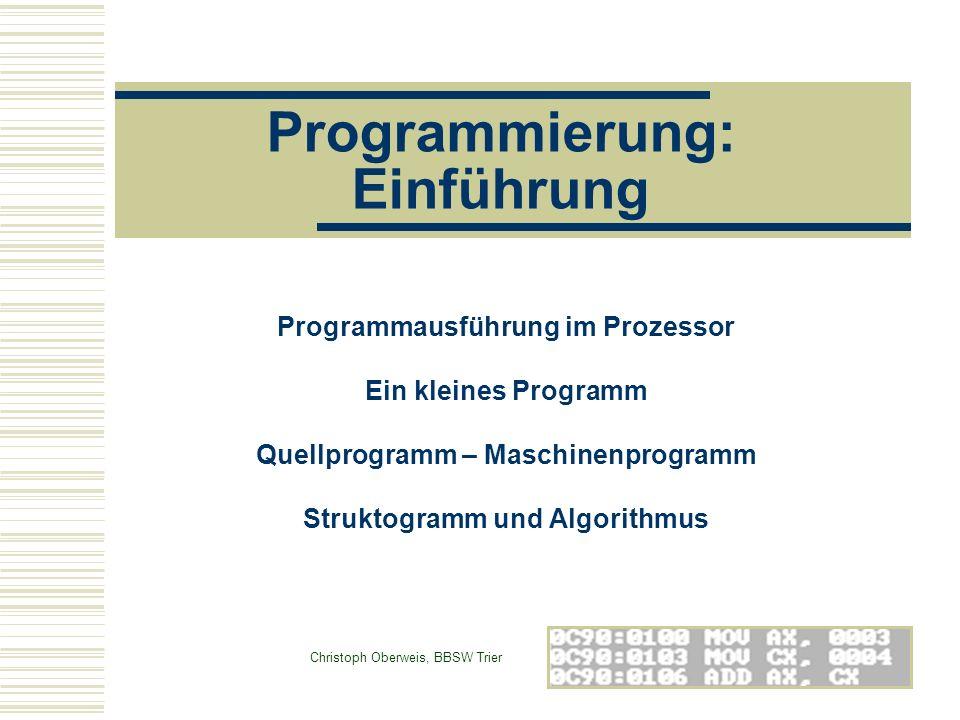 Programmierung: Einführung