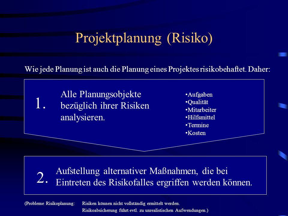 Projektplanung (Risiko)