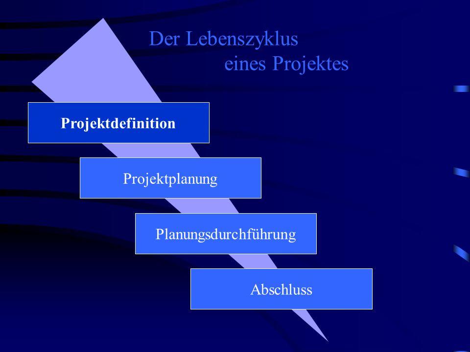 Der Lebenszyklus eines Projektes