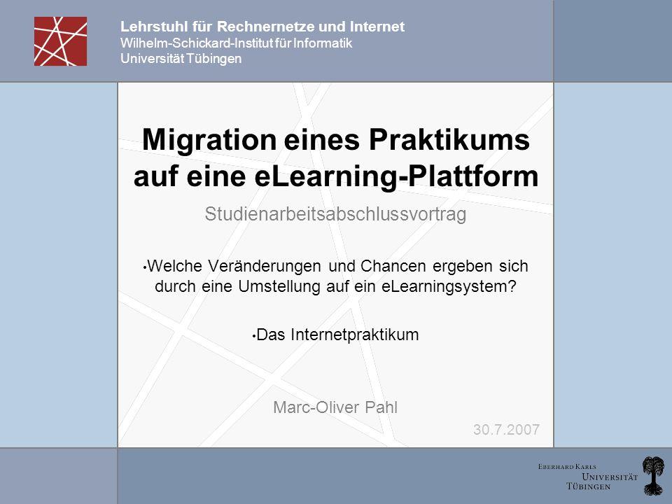 Migration eines Praktikums auf eine eLearning-Plattform