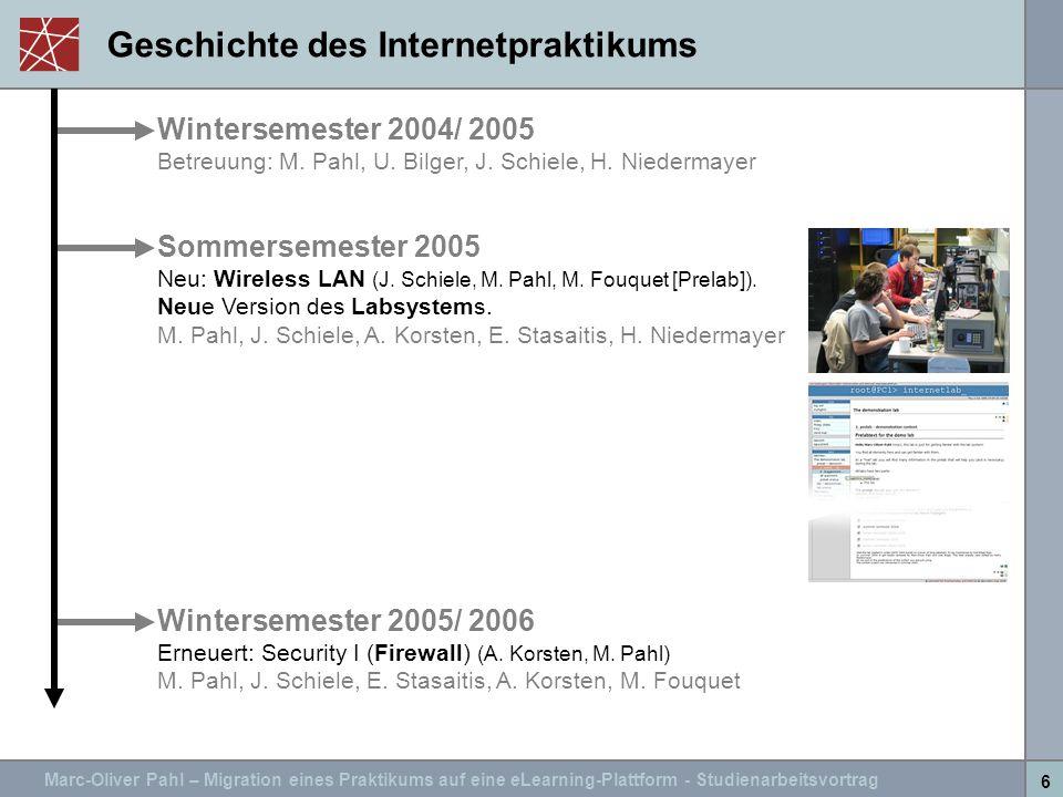 Geschichte des Internetpraktikums