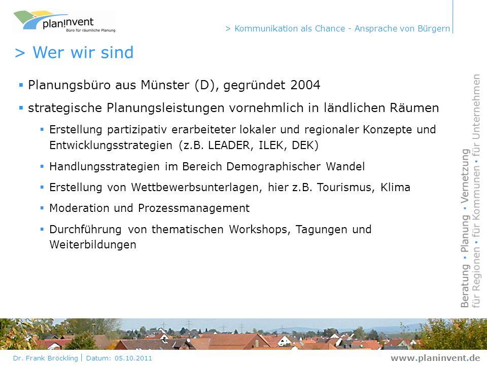 > Wer wir sind Planungsbüro aus Münster (D), gegründet 2004