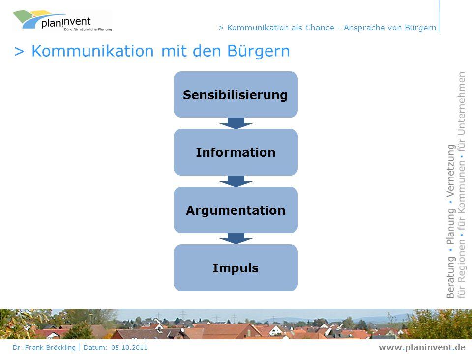 > Kommunikation mit den Bürgern