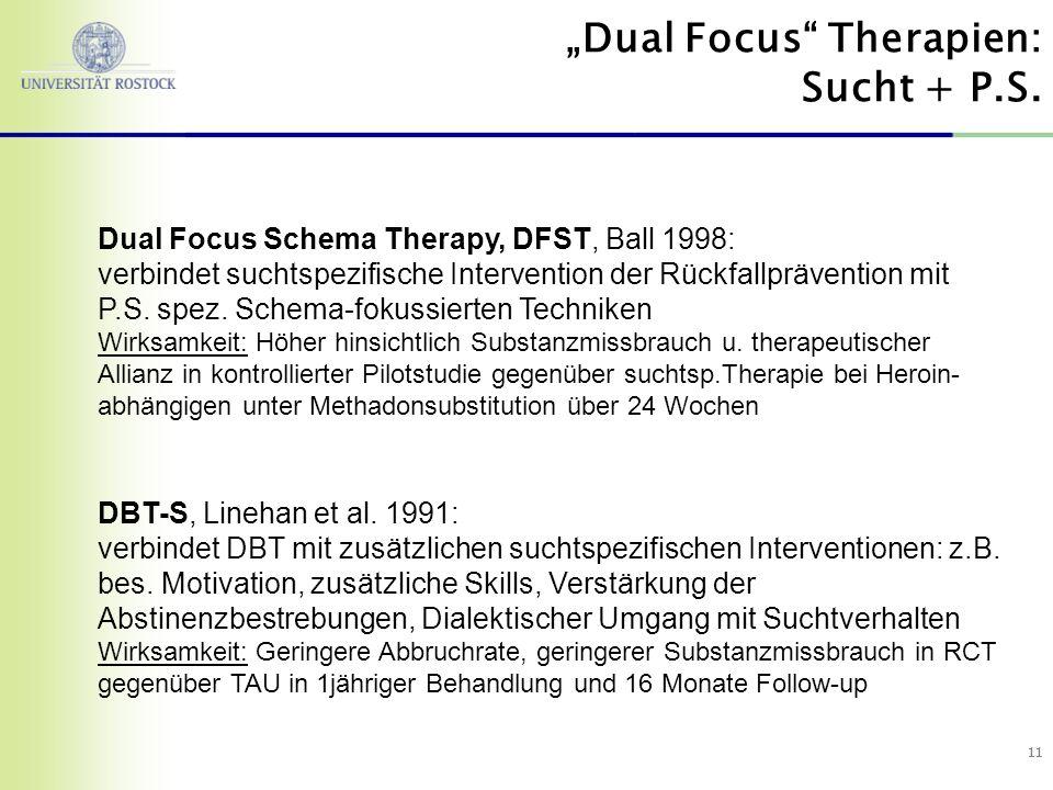 """""""Dual Focus Therapien: Sucht + P.S."""