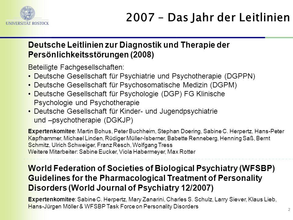 2007 – Das Jahr der Leitlinien