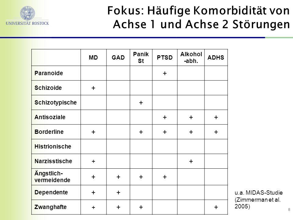 Fokus: Häufige Komorbidität von Achse 1 und Achse 2 Störungen