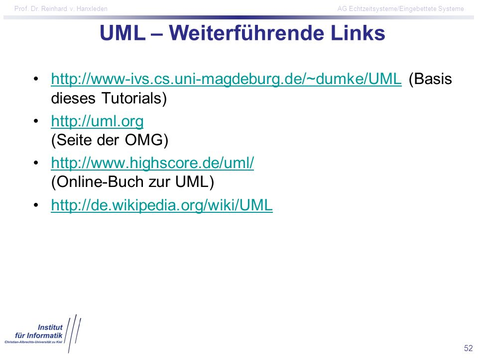 UML – Weiterführende Links