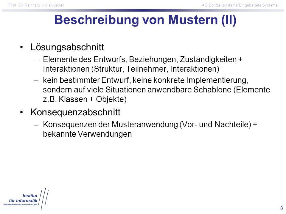 Beschreibung von Mustern (II)
