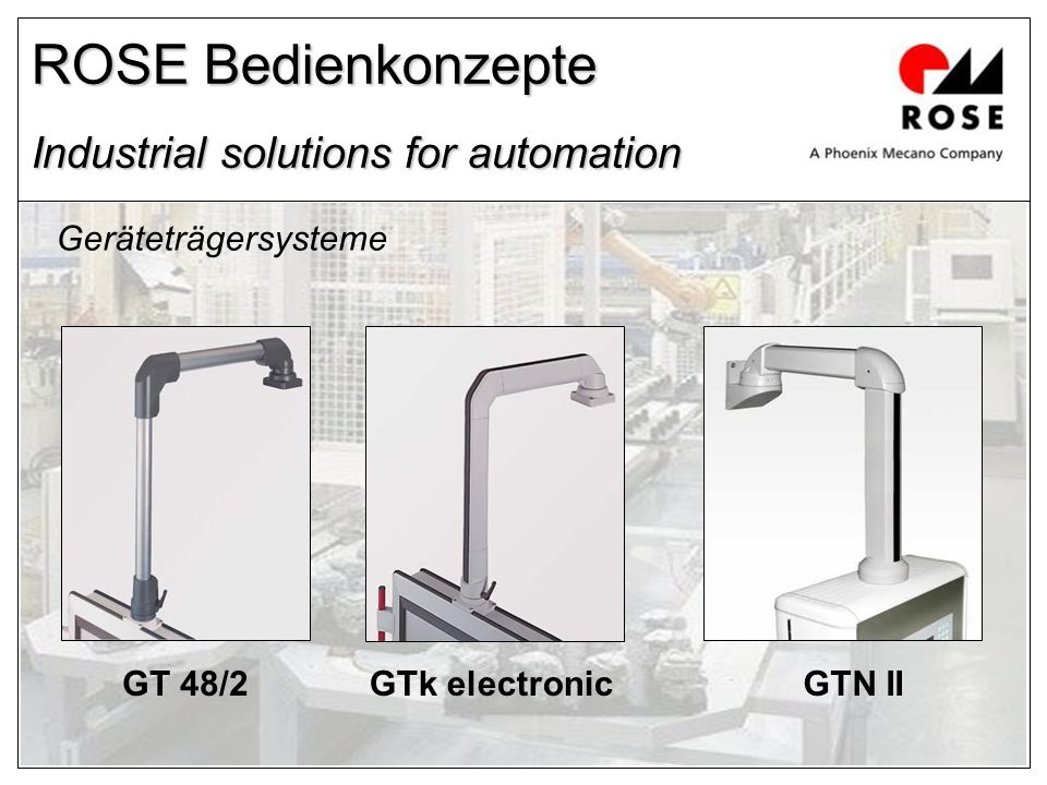 ROSE Bedienkonzepte Industrial solutions for automation