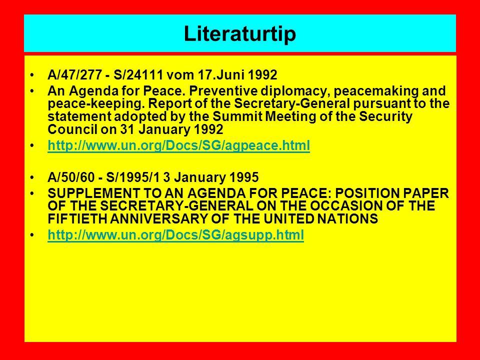 Literaturtip A/47/277 - S/24111 vom 17.Juni 1992