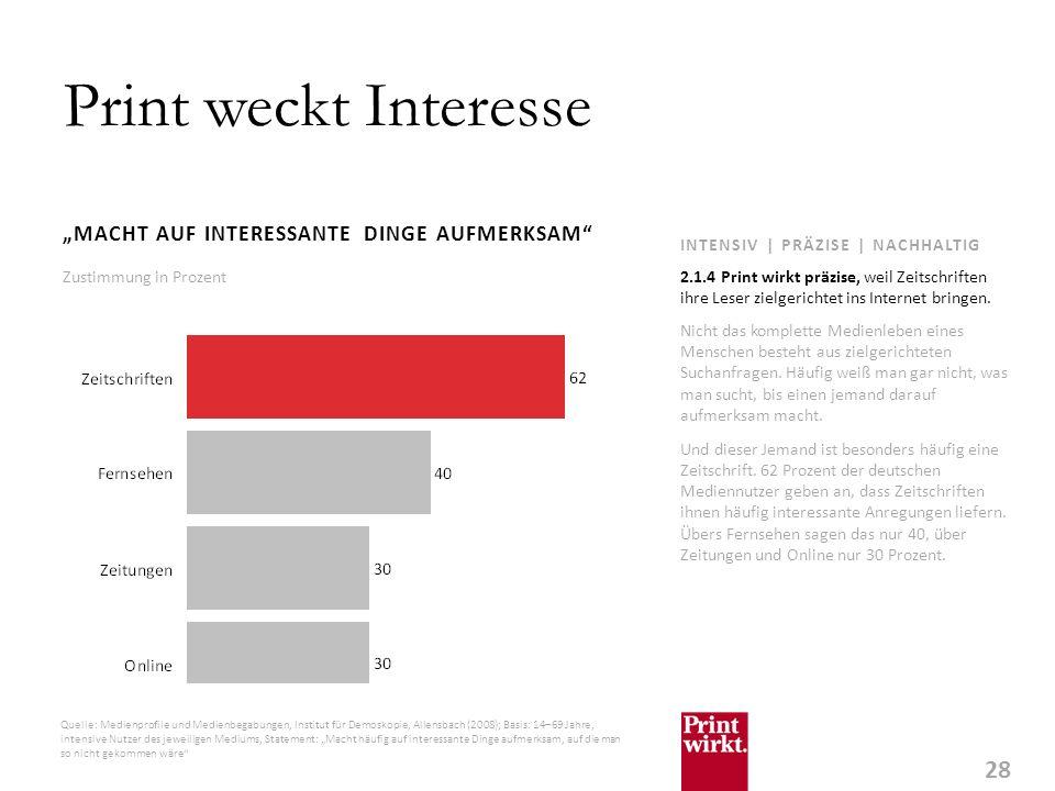 """Print weckt Interesse """"MACHT AUF INTERESSANTE DINGE AUFMERKSAM"""
