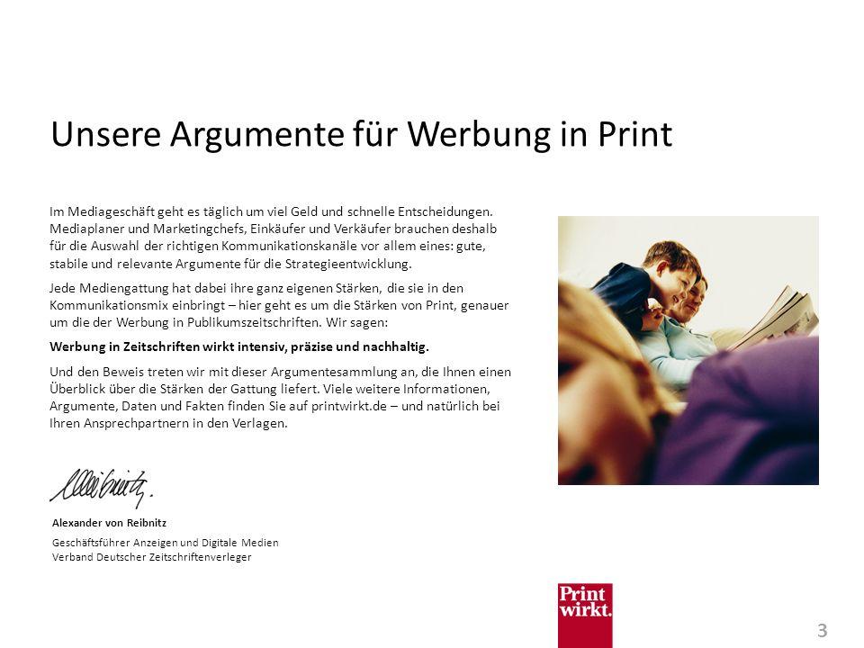 Unsere Argumente für Werbung in Print
