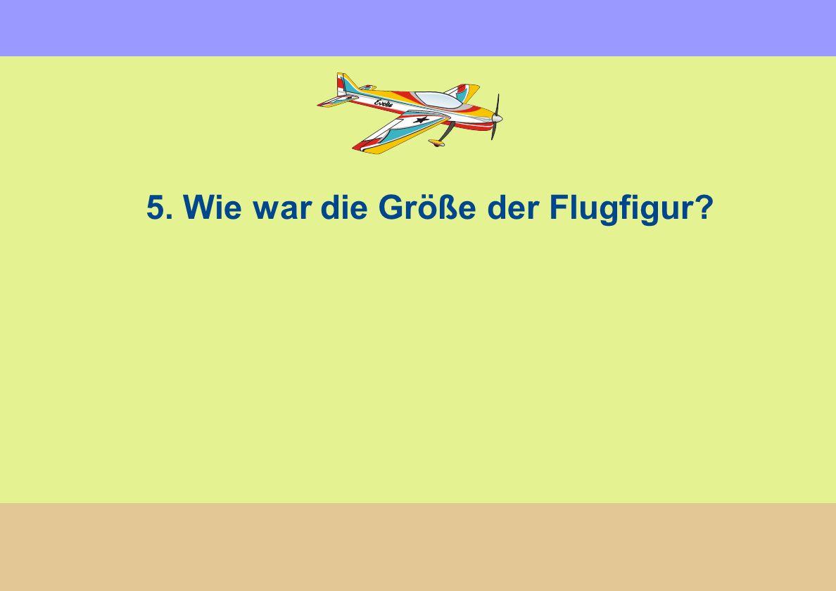 5. Wie war die Größe der Flugfigur