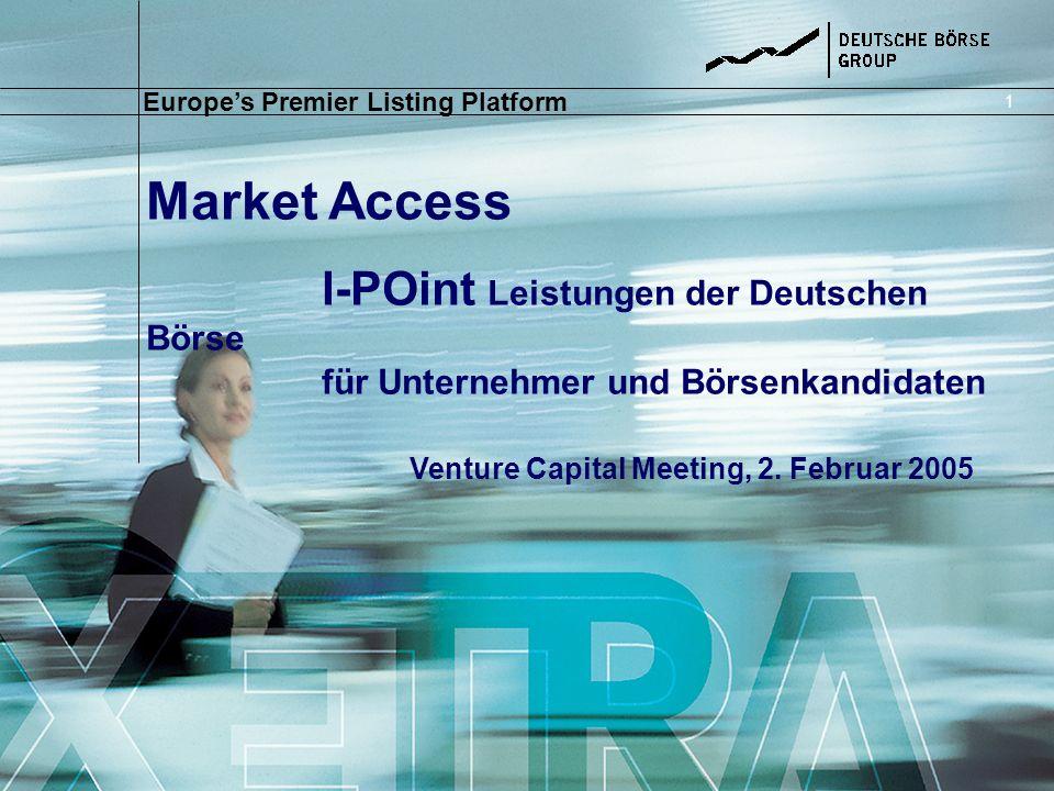 Market Access I-POint Leistungen der Deutschen Börse