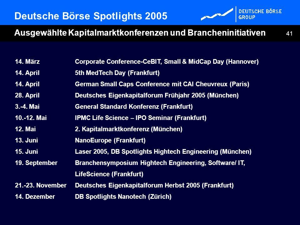 Deutsche Börse Spotlights 2005