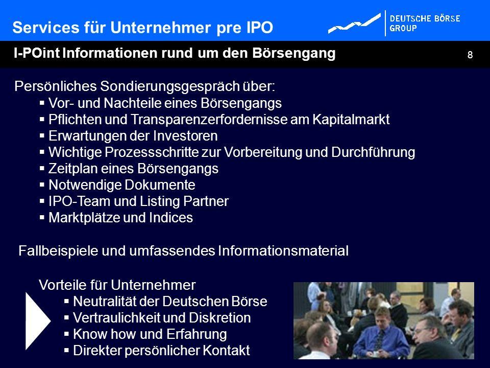 I-POint Informationen rund um den Börsengang