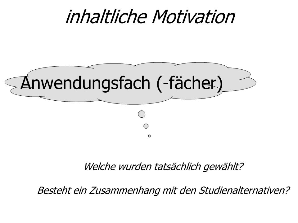 inhaltliche Motivation