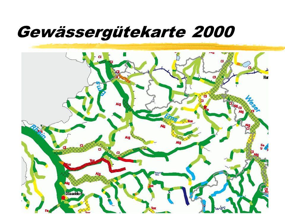 Die Gewässergütekartierung wird seit 1960 alle fünf Jahre vorgenommen
