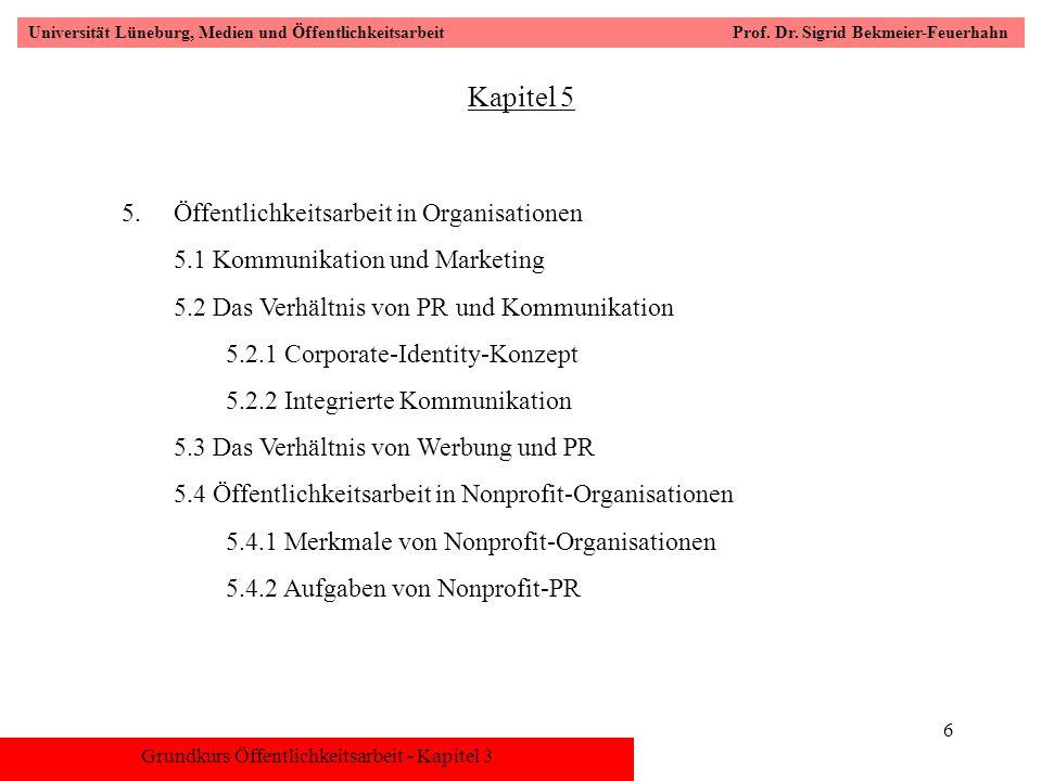 Kapitel 5 Öffentlichkeitsarbeit in Organisationen