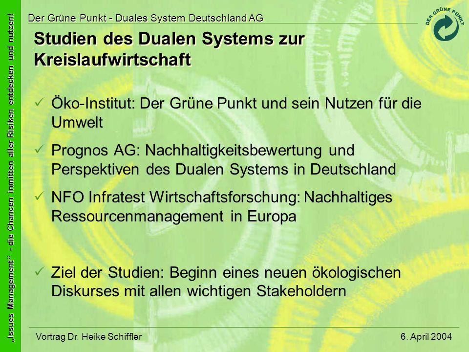 Studien des Dualen Systems zur Kreislaufwirtschaft