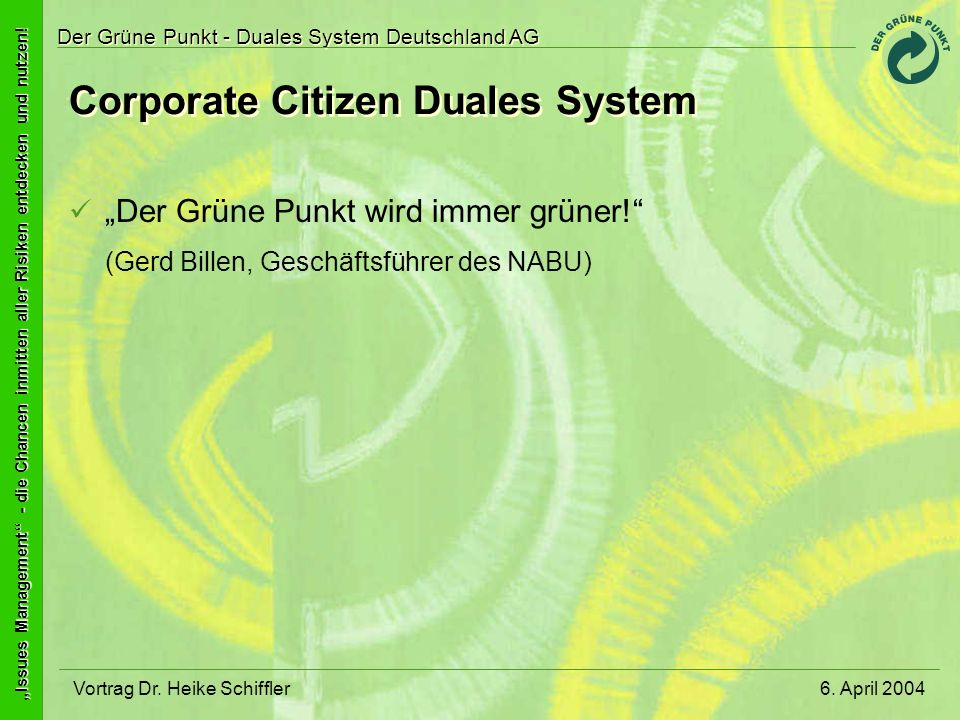 Corporate Citizen Duales System